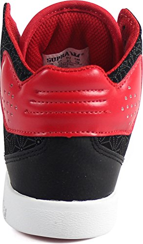 Mixte Black Adulte Supra Atom Hautes Red Sneakers Black qzxtU4