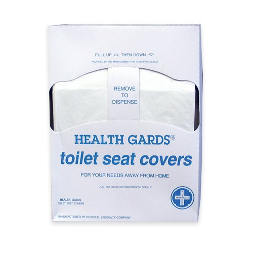 Hospeco Health Gards Quarter-Fold Toilet Seat Covers (200 Covers/Pack) (25 Packs) - BMC-HSC HG-QTR-5M by Miller Supply Inc