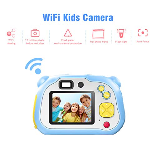 ⭐⭐⭐⭐⭐ Sttech1 Mini Digital Camera for Kids, 1080P HD Video Camera Mini Child Camcorder with 2 Inch LCD Screen Best Creative Gifts (Blue)
