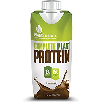 PlantFusion Complete Ready-to-Drink Protein Shake, Chocolate, No Soy or Rice, 18g Protein, 11oz Carton, 12 Count