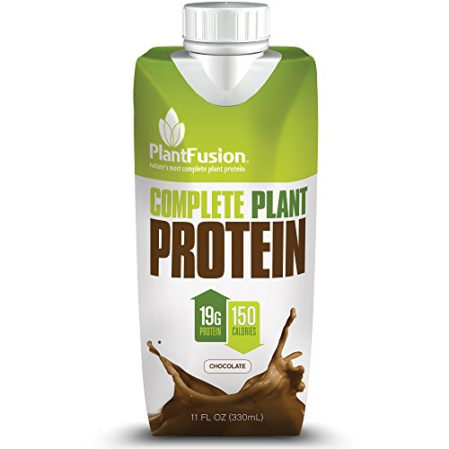 PlantFusion Complete Ready-to-Drink Plant-Based Protein Shake, Chocolate, 11 oz  Carton, 4 Count