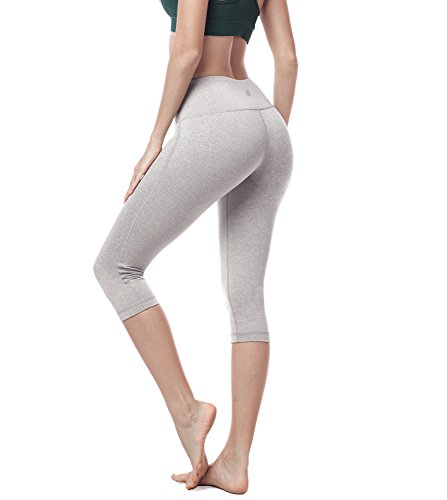 7278858c6b9 Galleon - Lapasa Women s Yoga Capri Pants Leggings Plus Size High Waist  Tummy Control Workout Running Tights W Hidden Pocket L02 (M