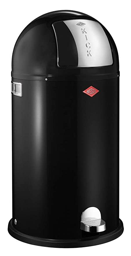 Wesco Kickboy Wit.Wesco Kickboy Powder Coated Steel Waste Bin 40 Litre Black