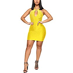 Yellow 12 Dress With Diamond Process
