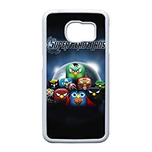 Durable Rubber Cases Samsung Galaxy S6 Edge Cell Phone Case White Angry Birds Nlyane Protection Cover