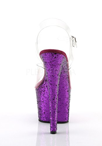 purple flamingo Clr Eu Glitter Mujer Sandalias Pleaser 801 UOq8Ww5qY