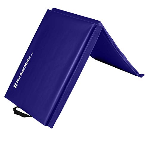 We Sell Mats 2 ft x 6 ft x 2 in Personal Fitness & Exercise Mat, Lightweight and Folds for Carrying, Purple