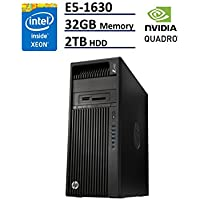HP Z440 Business WorkStation Desktop PC: Intel Xeon E5-1630 v3, 2TB HDD, 32 GB DDR4, NVIDIA Quadro K420, DVD-RW, Windows 10 Pro (Certified Refurbished)