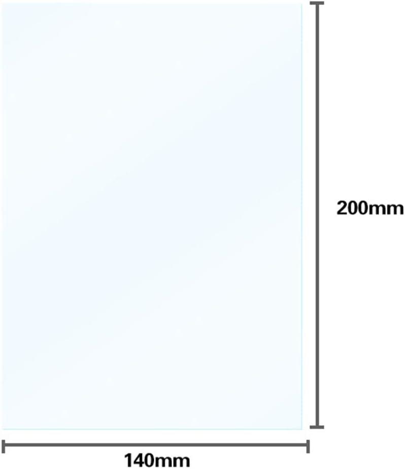 Show Film FEP Transparent 200 x 140 mm Alicer FEP Lot de 5 Films de 0,15-0,2 mm FEP pour imprimante Photon LCD 3D 3D Durable Lot de 5