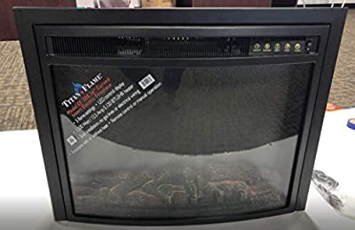 """Titan Flame Model EF-30B 26"""" Curved Insert Electric Fireplace"""