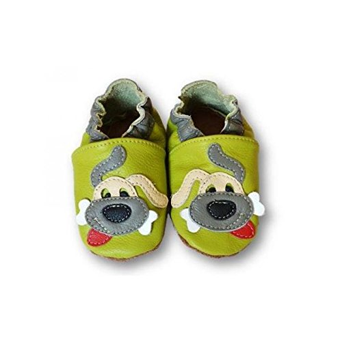 Chaussons cuir souple GREEN DOG - Pointure 31-32 (7 ans)