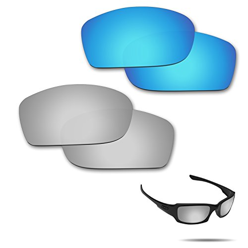 Fiskr Anti-saltwater Polarized Replacement Lenses for Oakley Fives Squared Sunglasses 2 Pairs - Define Polarizes