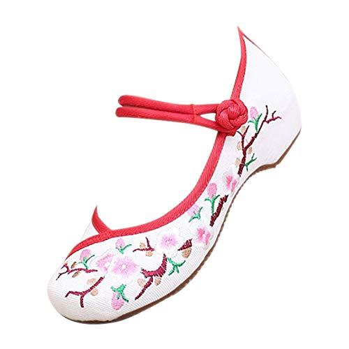 White Mountain Womens Wedge Heel Shoes Navy White Stripe Canvas Sz 8 Exquisite Workmanship In