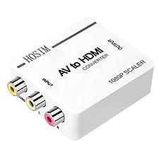 Hosim AV to HDMI Converter/Adapter/RCA Mini Box for TV/PC/PS3/Blue-Ray DVD