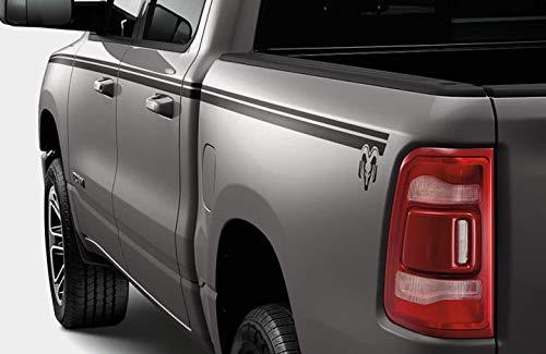 M O P Compatible 2019 Dodge Ram 1500 Black Body Side Graphic Crew Cab 5'7