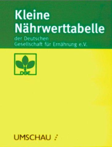 Kleine Nährwerttabelle der Deutschen Gesellschaft für Ernährung