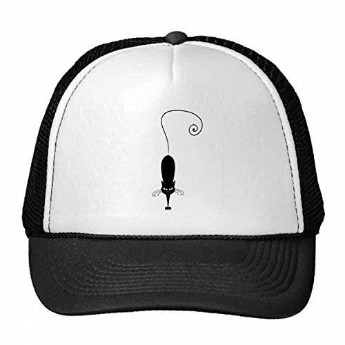 DIYthinker Black Cat Pet Lover Animal Art Silhouette Trucker Hat Baseball Cap Nylon Mesh Hat Cool Children Hat Adjustable Cap Gift