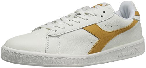 Diadora Herren Spiel L Low Gewachsten Court Schuh Weiß / Amber Gold