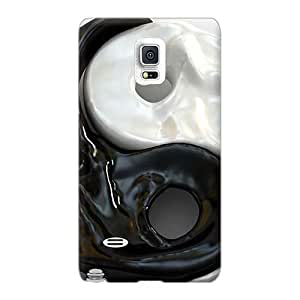 Samsung Galaxy Note 4 OxV3756WVPr Support Personal Customs Colorful Yin Yang Pictures Protector Hard Phone Case -EricHowe
