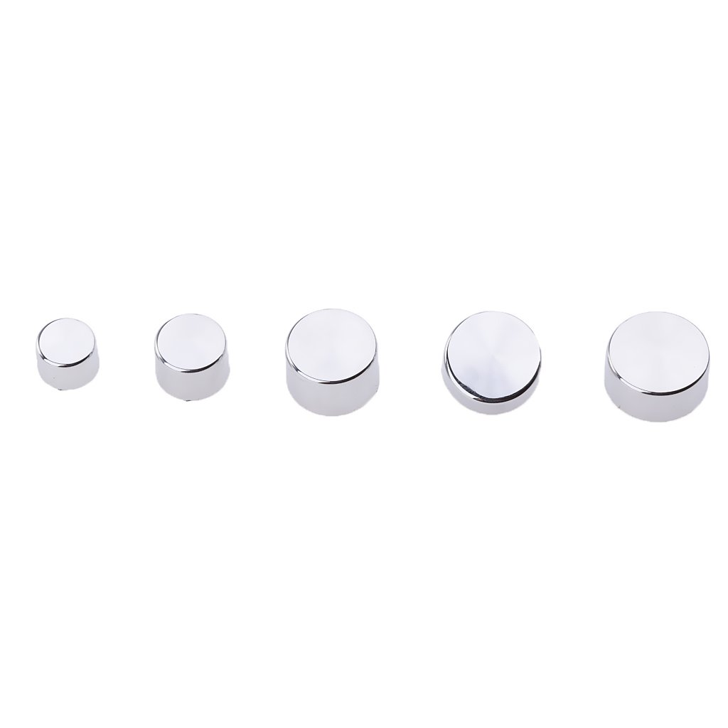 Sharplace 85 Pieces Chrome Topper Bolt Caps Cover Set For Harley Twin Cam Road King//FLH