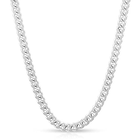 Sterling Silver Italian 3.5mm Miami Cuban Curb Link Thick ITProLux Solid 925 Necklace Chain 16