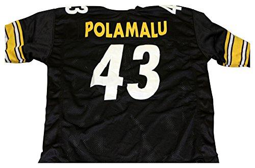 Troy Polamalu Pittsburgh Steelers Unsigned Custom Football Jersey - Size (Polamalu Jersey)