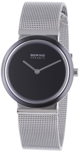 BERING Time 10729-042 Women's Ceramic Collection Watch with Mesh Band and scratch resistant sapphire crystal. Designed in Denmark.