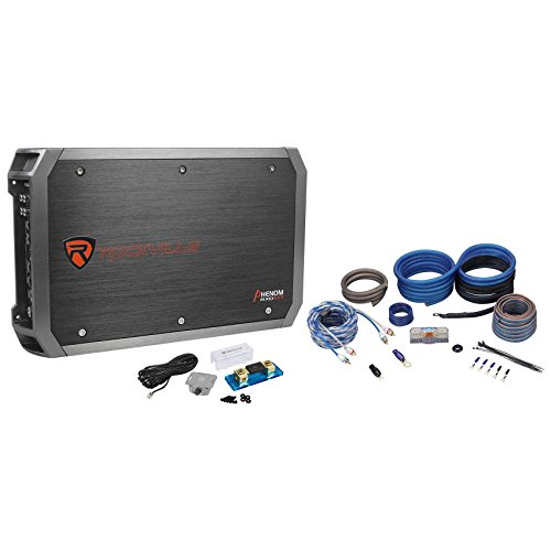 Rockville RXD-M3 4000 Watt/2000W RMSMono Car Amplifier+100% CopperAmp Wire Kit