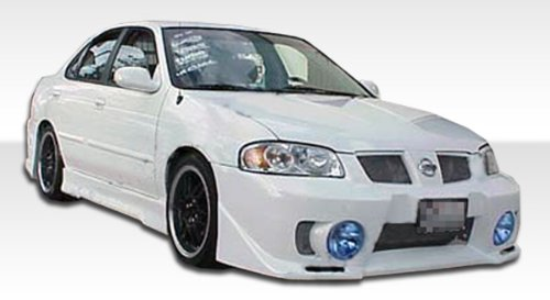 - 2004-2006 Nissan Sentra Duraflex Evo5 Kit- Includes Evo 5 Front Bumper (102469), B-2 Rear Bumper (103315), and Evo 5 Sideskirts (100151). - Duraflex Body Kits