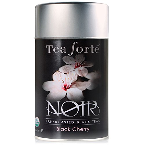 Tea Forte Noir BLACK CHERRY Organic Loose Leaf Black Tea, 2.82 Ounce Tea Tin