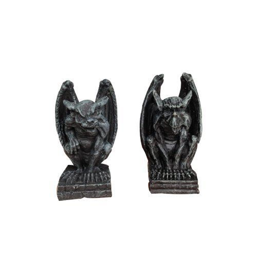 (PTC 2.5 Inch Miniature Evil Gargoyles Resin Statue Figurines, Set of Two)