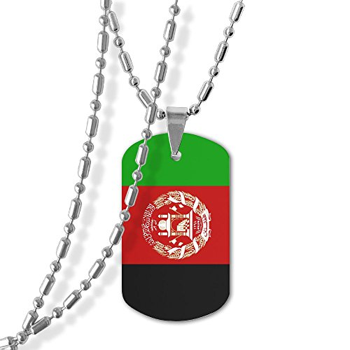 b5121edcd188 Afghan Flag Unisex Jewelry Pendant Military Brand Necklace Metal Dog Tag  For Men Women Love Gifts