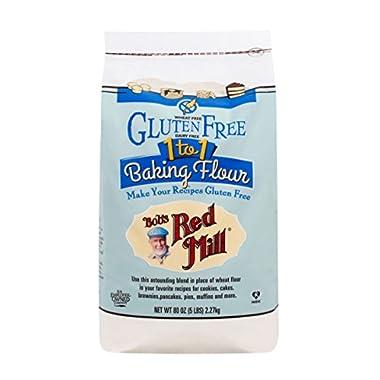 Bob's Red Mill Gluten Free 1-to-1 Baking Flour, 5 Pound