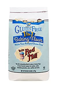 Bob's Red Mill Gluten Free 1-to-1 Baking Flour, 5 Pound