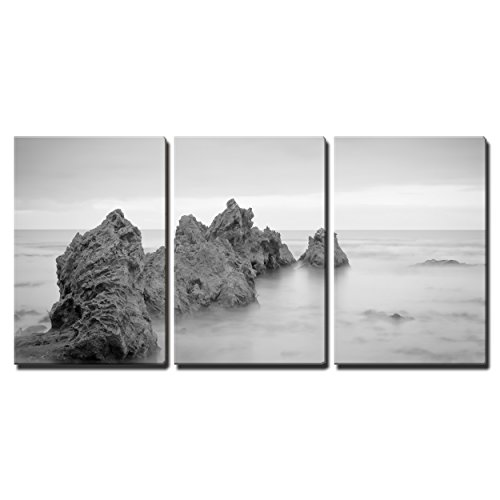 "Wall26 - 3 Piece Canvas Wall Art - a Shot of Big Corona Beach, Looking out to the Pacific Ocean. - Modern Home Decor Stretched and Framed Ready to Hang - 16""x24\""x3 Panels"