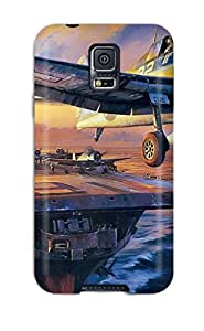 AnnDavidson Galaxy S5 Hybrid Tpu Case Cover Silicon Bumper Aircraft Carrier by Maris's Diary