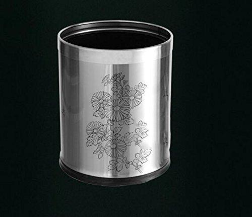 スクラブ印刷トイレットバレルゴミ箱缶バレルステンレス家庭用の商品画像