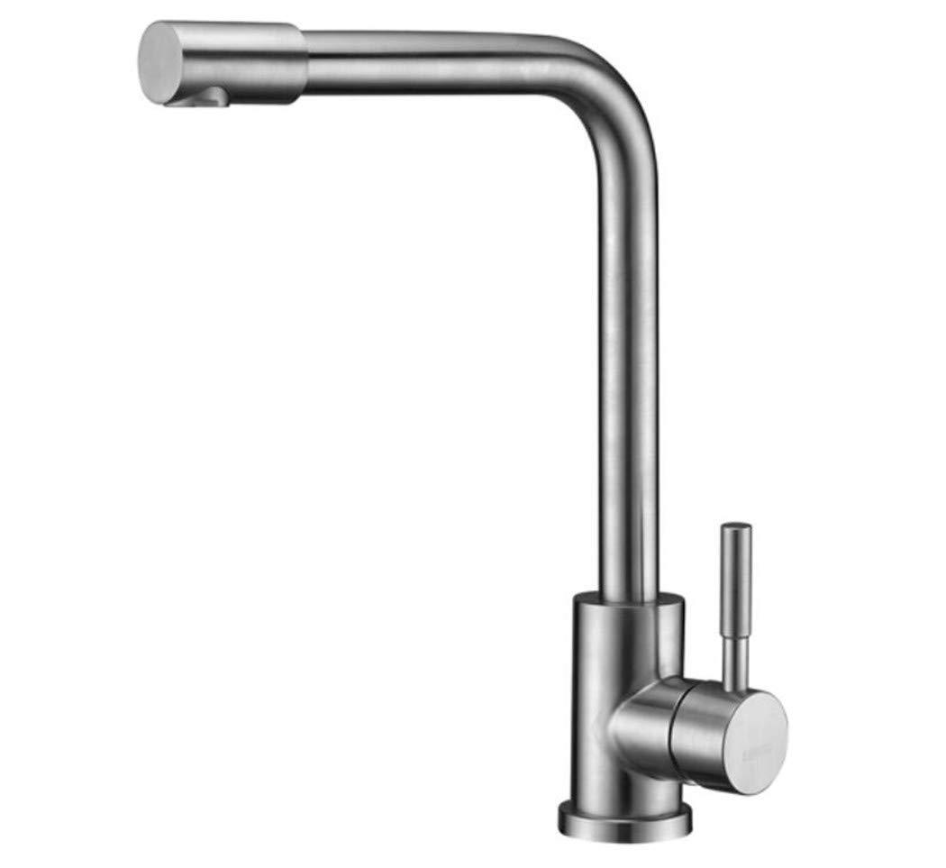Waschtischarmatur Spültisch Badarmatur Kupfer Edelstahl-Küchenhahn Universal Drehspülmaschöne Wasserhahn Kalt Und Warmwasserbehälter Wasserhahn