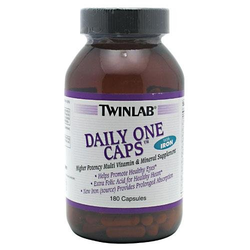 Multivitamin 180 Caps - Daily One With Iron Twinlab, Inc 180 Caps