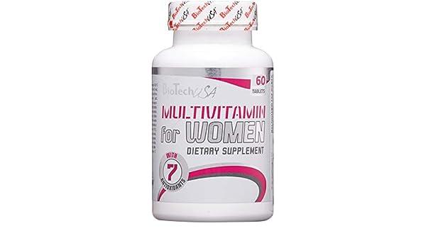 Biotech USA Vitaminas y Minerales para Mujer, Paquete de 60 tabletas: Amazon.es: Salud y cuidado personal