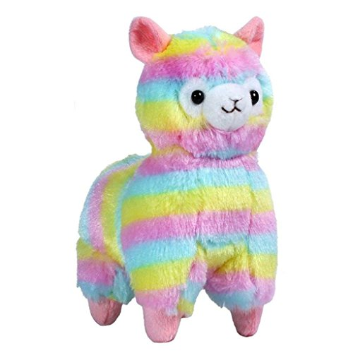 Price comparison product image Gillberry Christmas New Year Gift,  13CM Colorful Kawaii Alpaca Llama Arpakasso Soft Plush Toy Doll Gift Cute Toys (Colorful)
