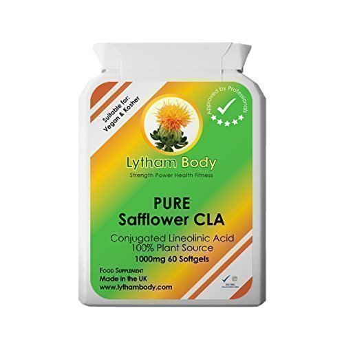 CLA, Conjugated Linoleic Acid 1000mg x 30 capsules 100% Pure Plant Source vegetarian/vegan capsules - NO Bovine content. Only Pure Safflower oil. Weight loss & Definition and toning, Excellent Antiox