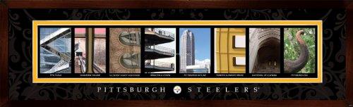 Prints Charming Letter Art Framed Print, Pittsburgh Steelers-Steelers, Bold Color Border