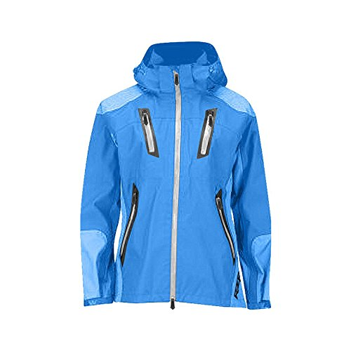 Polaris RZR River Valley Blue Women's Softshell Waterproof Jacket Hood