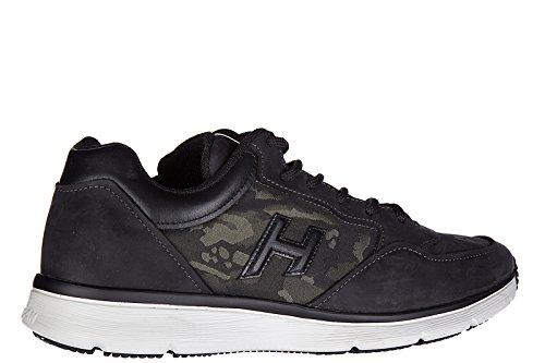 Hogan Chaussures Sneakers Homme En Cuir Nouveau Traditionnel 2015 H 3d Noir