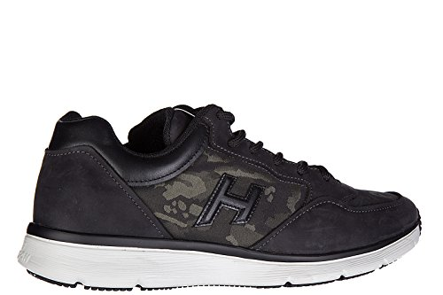 Scarpe Da Ginnastica Hogan Uomo Sneakers In Pelle Tradizionale 2015 H 3d Nero