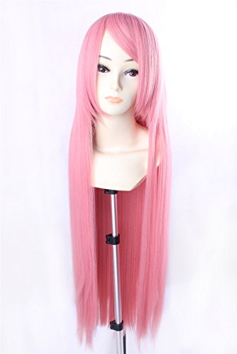 Princess Bubblegum Costumes Adult (Icoser Anime Cosplay Party Wigs Long Synthetic Hair 100cm (Pink))