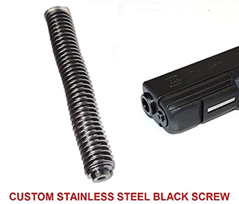 CENTENNIAL DEFENSE SYSTEMS STAINLESS STEEL GUIDE ROD ASSEMBLY WITH 17 LB ISMI SPRING FOR GLOCK G17, 17L,22,24,31,34,35,37 GEN 1-3 AND CUSTOM MACHINED STAINLESS STEEL BLACK OXIDE COATED HEAD SCREW.