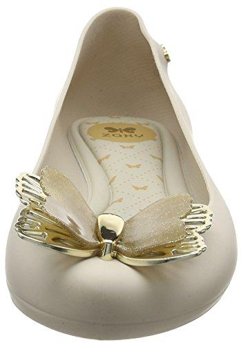 Zaxy Femme Beige Luxe nude Ballerines Butterfly Plates rWzFrZ