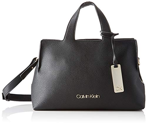 Calvin Klein K60K605566, Bolsos bandolera para Mujer, Negro (Black)20.3x15.2x27.9 centimeters (B x H x T)